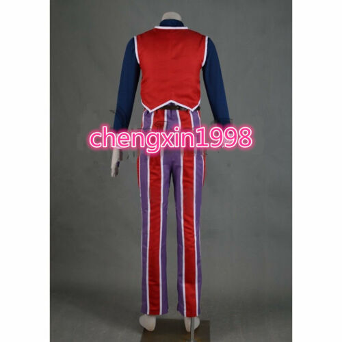 LazyTown Robbie Rotten Costume Cosplay Adult/'s Vest Pants Shirt Cosplay AA.0102