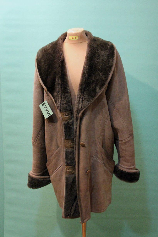 Vacker Shearling Coat CA 44  l bspringaa läder Genuine Shearling årgång kvinnor