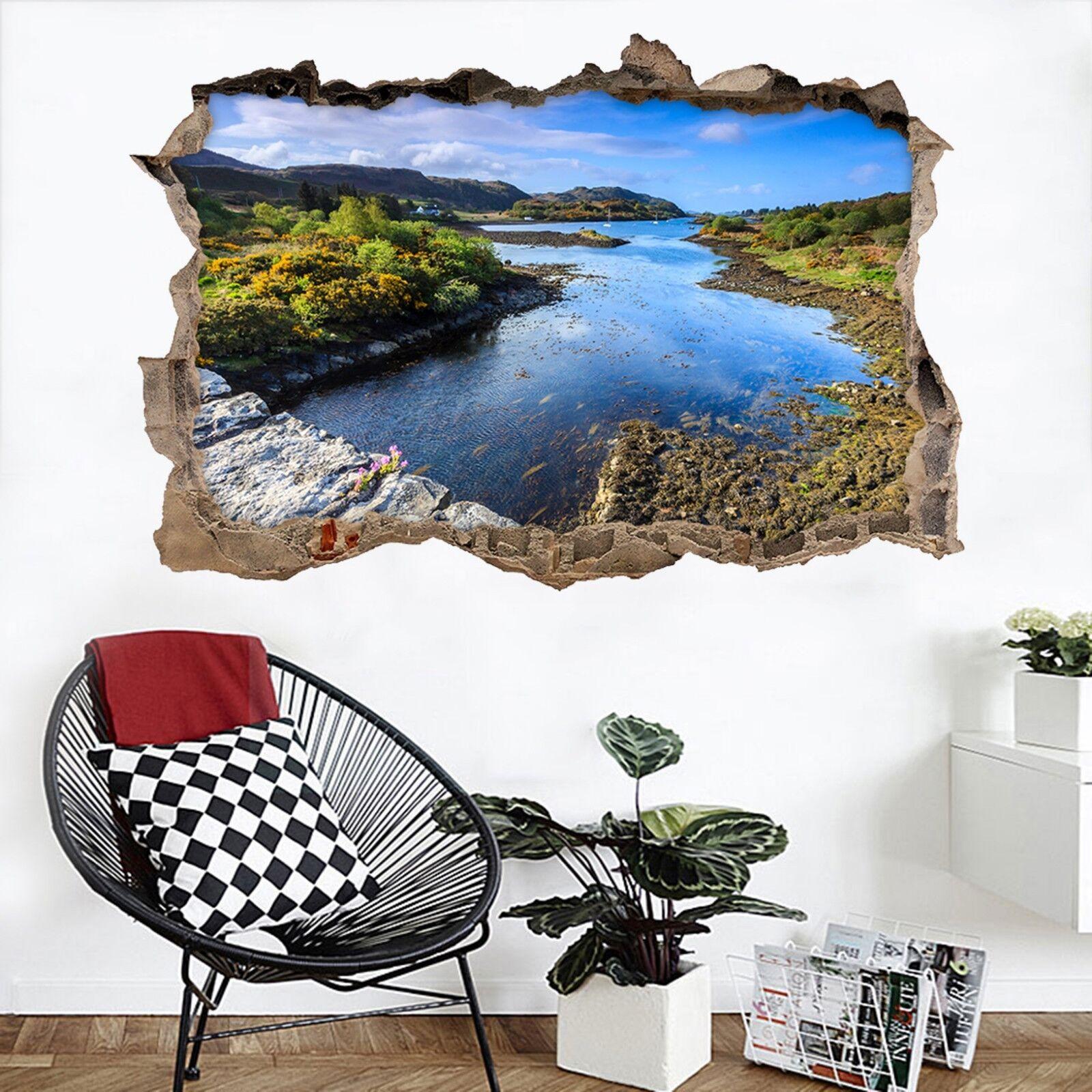 3D Großer Fluss 360 Mauer Murals Mauer Aufklebe Decal Durchbruch AJ WALLPAPER DE