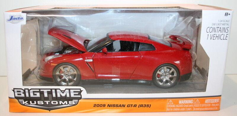 Jada 1 24 scale 96811 - 2009 Nissan GT-R r35-rojo