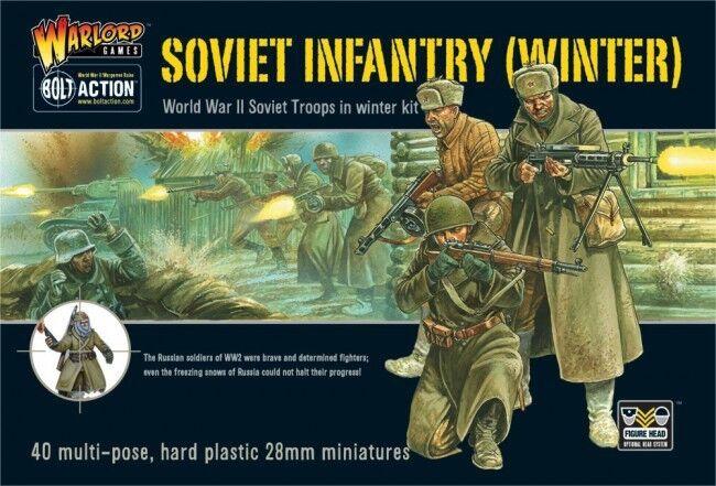 Warlord Games Soviet Infantry Troops in Winter Kit 28mm Soviet Union WWII Ivan