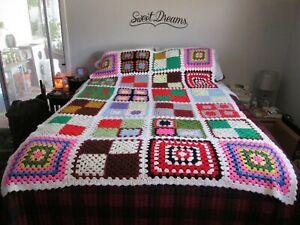 Granny square blanket 54 x 54