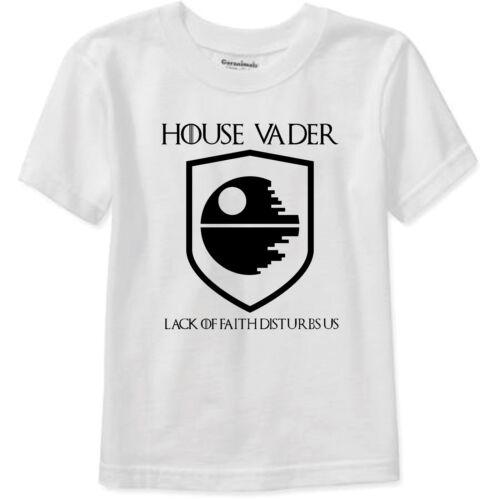 House Vador manque de foi perturbe US T Shirt Star Wars Game of Thrones