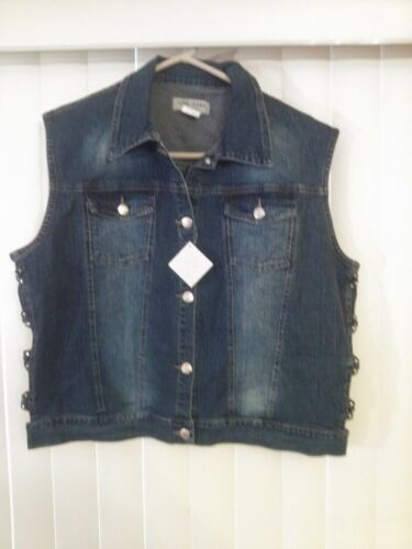 Love Sides Capri paillettes Gilet Jeans 2xlarge Blue Set e Peekaboo grFpwgnq