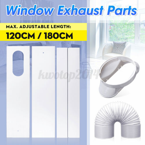 1-4PCS Window Exhaust Parts Slide Kit Plate Adaptor For Portable Air Conditioner
