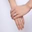 Anello-Anelli-Coppia-Fedi-Fede-Fedine-Fidanzamento-Acciaio-Cristallo-Paio-Regalo miniatura 7