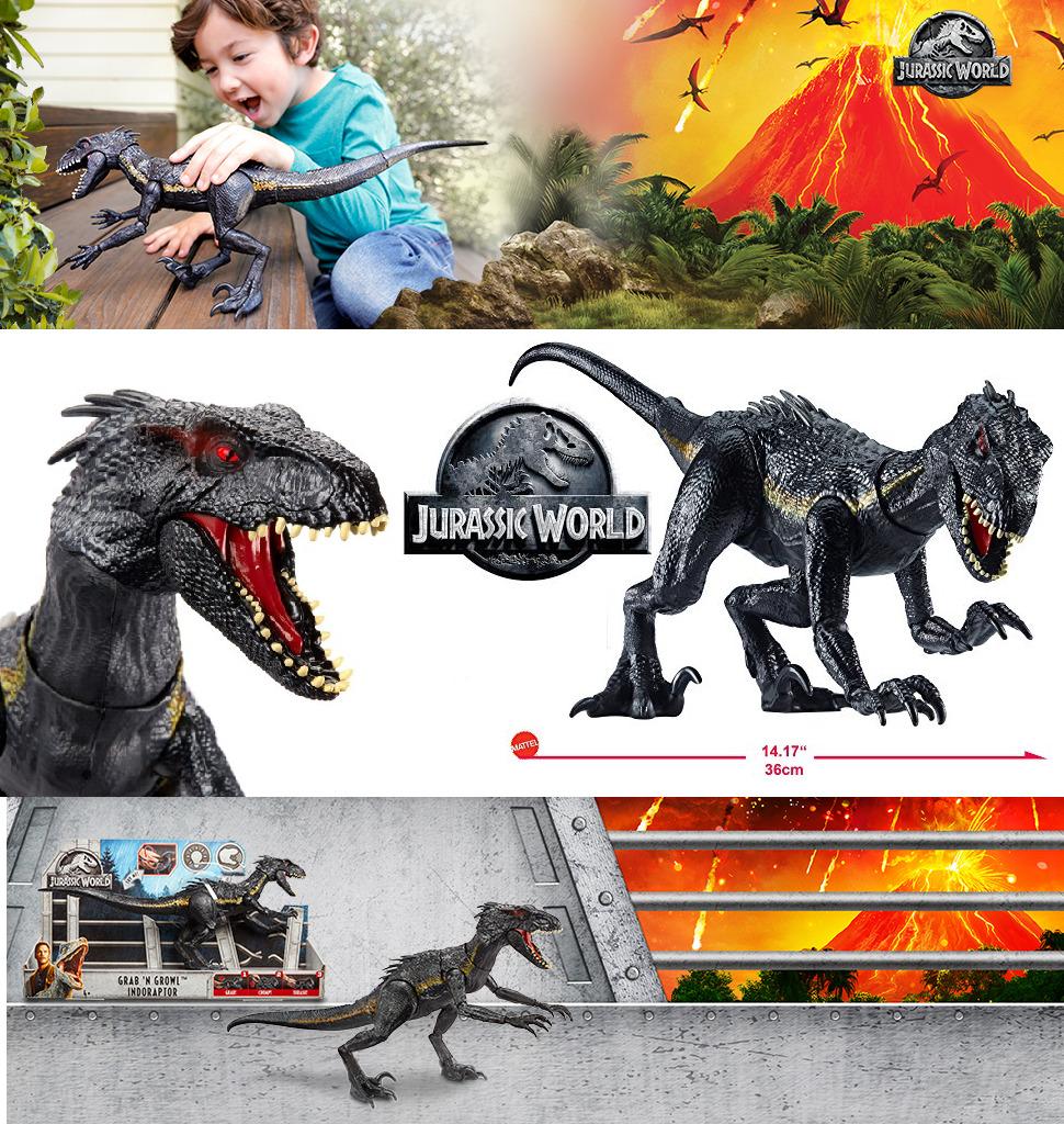 Jurassic World Movie Figure Grab N Growl Indoraptor Dinosaur Light Sound Effects