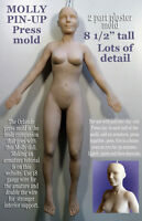 8 1/2 Female Molly Full Body Pin Up (2 Part) Press Mold By Patricia Rose