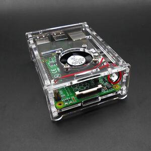 Clear Premium raspberry pi 3B//3B+//2B case White or Blac Lp