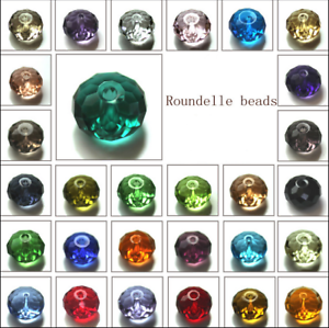 Wholesale-Crystal-Glass-Rondelle-Faceted-Loose-Spacer-Beads-6mm-8mm-U-Pick