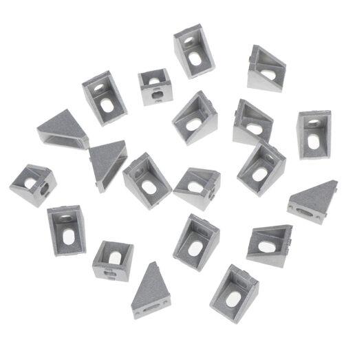 20Pcs 2020 corner fitting angle aluminum 17x20x20 connector bracket fastener D/_X