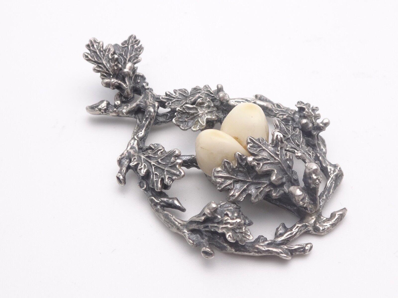 Ancien grand pendentif de chasse argent argent argent massif dents de cerf venerie trophée cda173