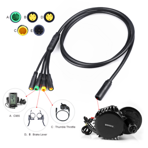 BAFANG-1T4-Connection-Cable-Mid-Drive-Kit-E-BRAKE-Display-Thumb-Throttle-Wire