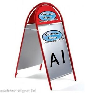 Brand New Cestrian Booster Commercial Tubular Magnetic A-frame A-board A1 Red Forme éLéGante
