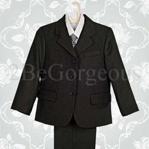 5 Pcs Formal Suit Wedding Page Boy Outfit Dinner Party Wear Age 1-6 Years 008A