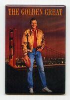 Joe Montana / Golden Great - Costacos Poster Fridge Magnet (vintage Rice 49ers)