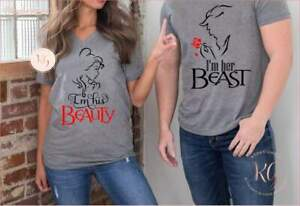 Beauty-And-The-Beast-Matching-Disney-Couples-Shirts-His-Beauty-Her-Beast-Belle