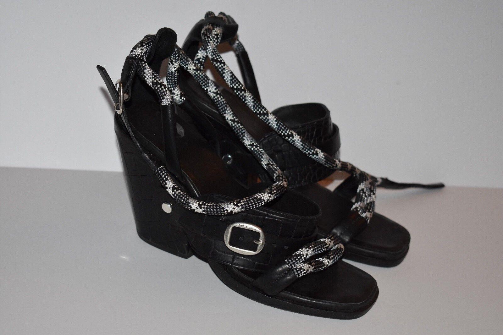 RAG & BONE Strappy Rope WedgeSandal Heels Size 38 US 8