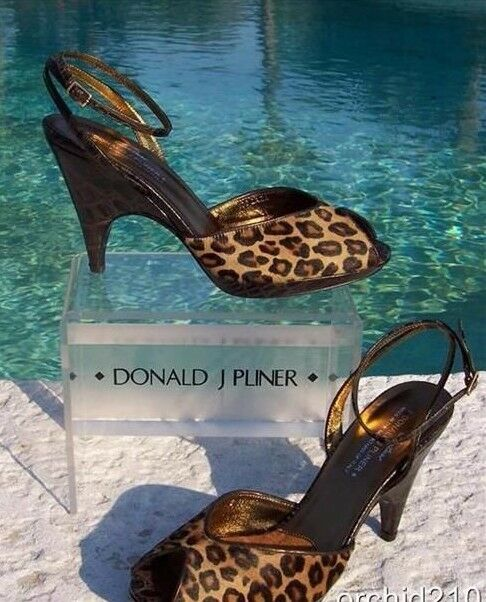 Donald Pliner Couture Couture Couture Gator Platform Leather Shoe Hair Calf Size 6 6.5 NIB  350 7d36a0