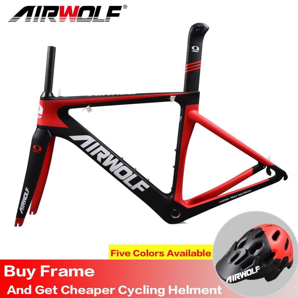 Airwolf 2018 Kohlefaser Rennrad-Rahmen Di2 und mechanische Carbon frameset