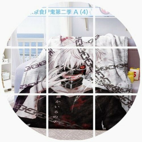 Anime Tokyo Ghoul Kaneki Ken Gift Soft Plush Travel Flannel Blanket 120cm*150cm