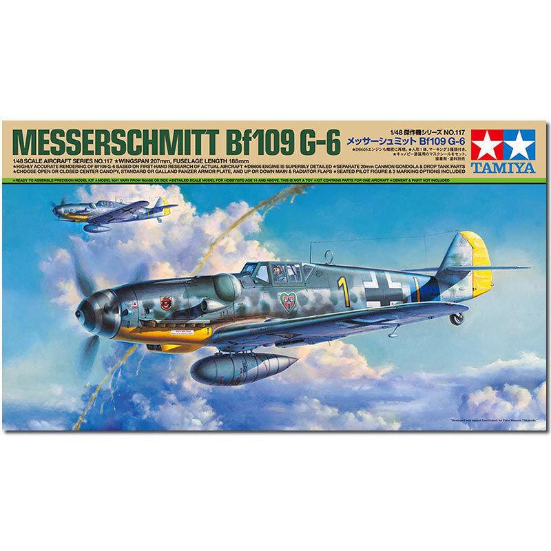 TAMIYA 61117 Messerschmitt BF-109 G6 1 48 Aircraft Model Kit