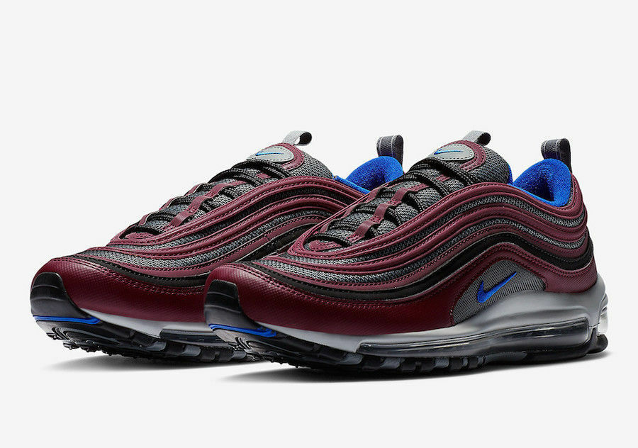 los angeles 92ef4 36346 NIKE AIR MAX 97 MAROON RACER blueE COOL COOL COOL GREY 921826 012 US MENS SZ