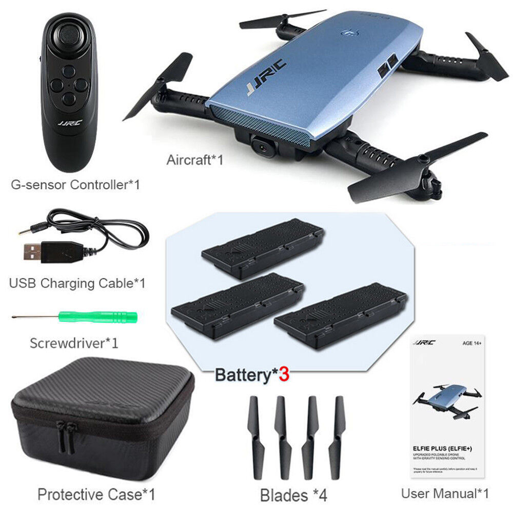 Fold JJRC H47 Wifi FPV Drone Quadcopter 3Extra Battery 720P Camera Helicopter