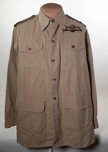 WW2-RAF-PILOTS-1944-DATED-TROPICAL-BUSH-SHIRT-LARGE-SIZE