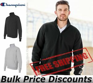 Champion-Mens-Double-Dry-Eco-Quarter-Zip-Pullover-Sweatshirt-S400-up-to-3XL