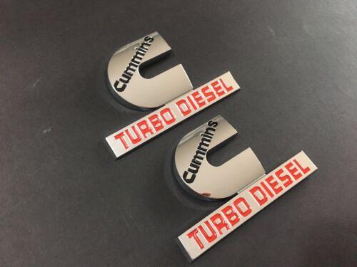 2 NEW OEM 2006-2012 FOR DODGE RAM RED/&BLACK TURBO DIESEL BADGES PAIR SET EMBLEMS