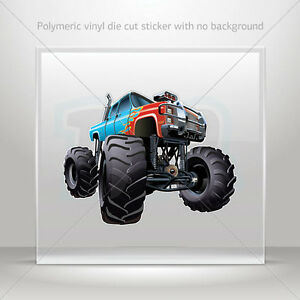 Decal-Sticker-Monster-truck-Helmet-Atv-Bike-polymeric-vinyl-Garage-st7-22393