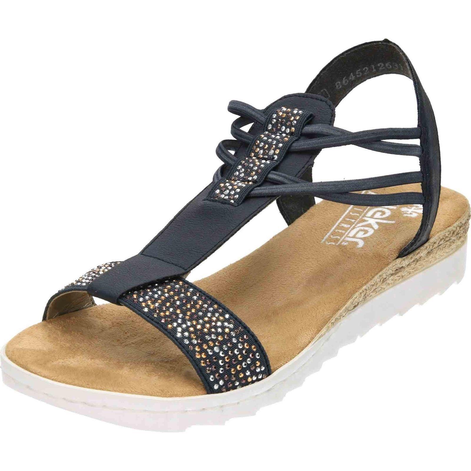 Donna blu open Reiker toe con elastico anti stress Reiker open Sandali 63062 3ca855