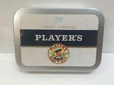 Players Navy Cut Advertising Brand Cigarette Tobacco Storage 2oz Hinged Tin
