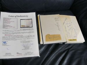 ROGERS-HORNSBY-Autographed-Chicago-Cubs-Multi-Signed-Book-14-Sign-JSA-Cert