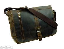 País de cuero 1003-Old School-Messenger Bag XL postbag unisex