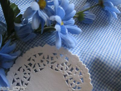 """100 PCS ❤ 4"""" INCH WHITE  LANCASTER LACE PAPER  LACY DOILY round flowers ❤CANADA"""