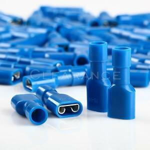 100 Blue 16-14 AWG Female Fully Insulated Quick Disconnector