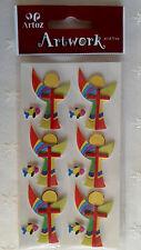 Artoz Artwork 3D-Sticker Konfirmation Kommunion Kreuz mit Punkten gold