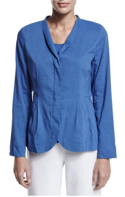 f3da12fd1b4af NEW Eileen Fisher Plus Size 3X Shawl Collar Peplum Linen Jacket ...