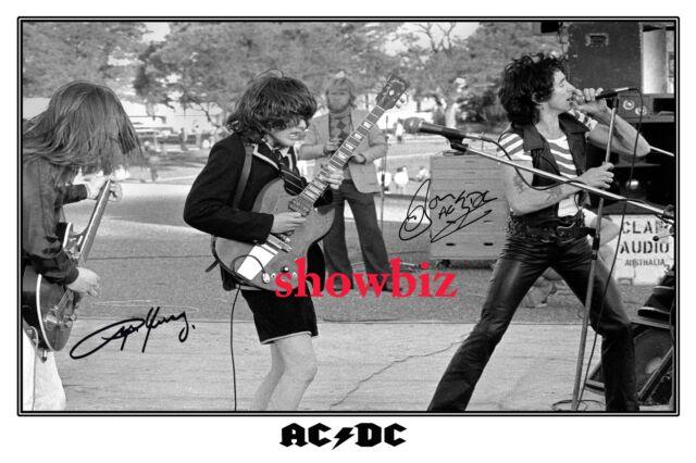 * BON SCOTT * ANGUS YOUNG * AC/DC * HEAVY METAL LEGENDS * SIGNED MEMORABILIA
