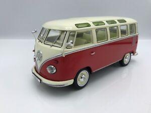 VW-VOLKSWAGEN-t1-Samba-1959-Rosso-Beige-chiaro-1-18-KK-scale