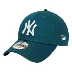 New-Era-Homme-New-York-Yankees-Essentiel-9-Forty-Casquette-Bleu-Sarcelle-BNWT