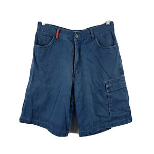 Quiksilver-Mens-Denim-Shorts-Size-32-Blue-With-Pockets