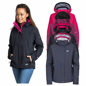Trespass-Womens-Waterproof-Jacket-Breathable-Hiking-Hooded-Raincoat