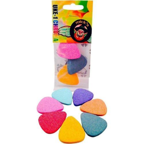 Other 8mm Mick/'s Picks UKE-1 Chroma Colored Felt Picks for Ukulele Mandolin