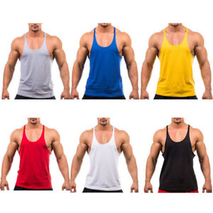 3cf07552becc2 Men Train Bodybuilding Gym Stringer Vest Y Back Racerback Tank Top ...