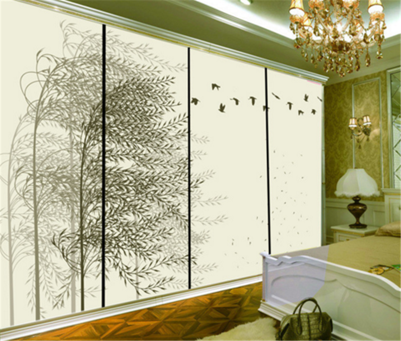 3D Leaves Tree Bird 8 Wallpaper Mural Paper Wall Print Wallpaper Murals UK Carly