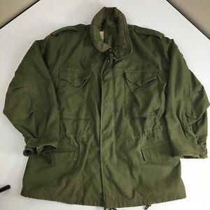 Vtg-70-039-s-So-Sew-VIETNAM-War-Men-Military-M-65-FIELD-Coat-US-ARMY-USAF-Jacket-M