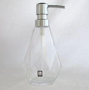 New Umbra Clear Glass Diamond Shape Cuts Kitchen Bathroom